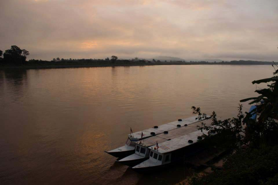 The mighty mekong river with Laos on the opposite bank